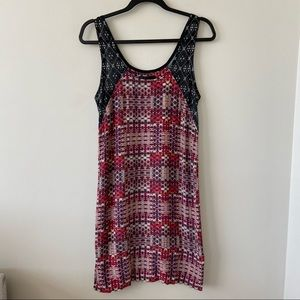 Nomad -Made In New Zealand Mixed Print Mini Dress